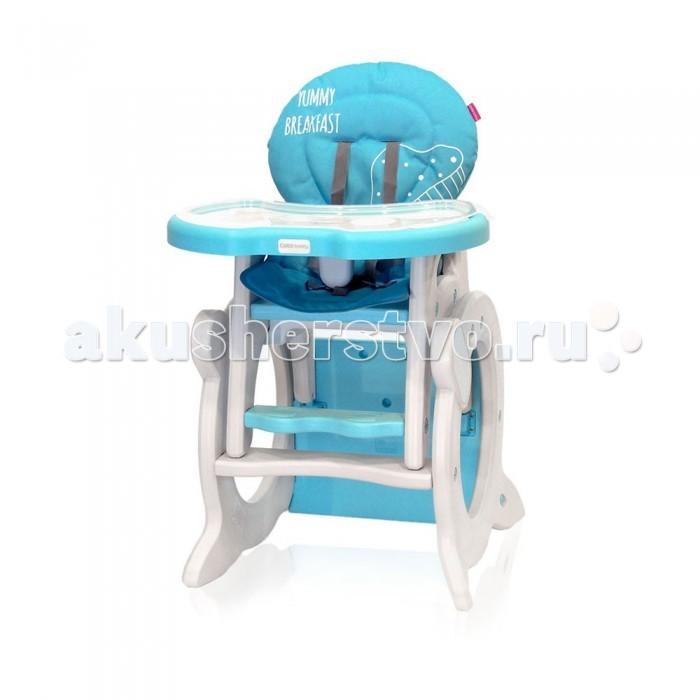 Стульчик для кормления CotoBaby StarsStarsСтульчик для кормления Coto Baby Stars трансформер предназначен от 6 месяцев до 3-х лет.  Особенности: Используется как стульчик для кормления для малышей и как стульчик и столик для детей чуть старше, когда ребенок может самостоятельно кушать и сидеть в одиночку. 3 положения спинки, 5-титочечные ремни безопасности, 2 съемных столешницы стульчика с возможностью регулировки расстояния от ребенка, чехол сиденья съемный. В дальнейшем легко трансформируется в парту со стульчиком, что позволит вашему ребенку чувствовать себя более самостоятельным.<br>