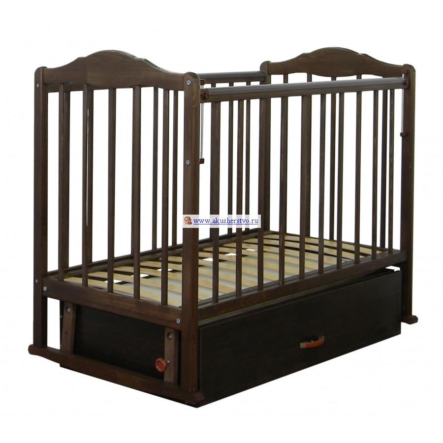 Детская кроватка СКВ Компани СКВ-2 23200 поперечный маятник с ящиком