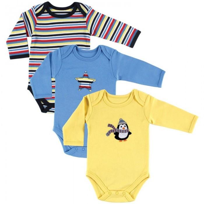 Hudson Baby Комплект Боди длинный рукав Пингвин 3 шт.