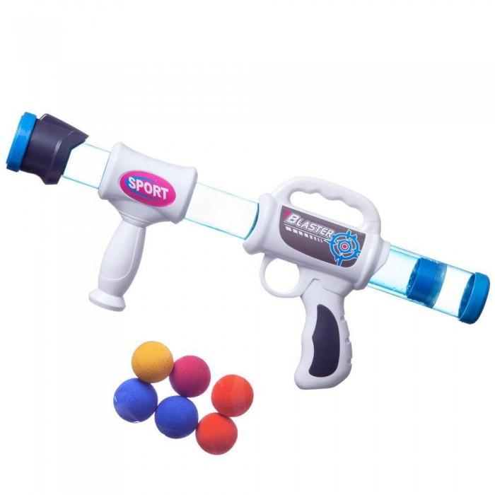 Фото - Игрушечное оружие Junfa Бластер с шариками 50 см игрушечное оружие играем вместе бластер стреляющий шариками по кеглям