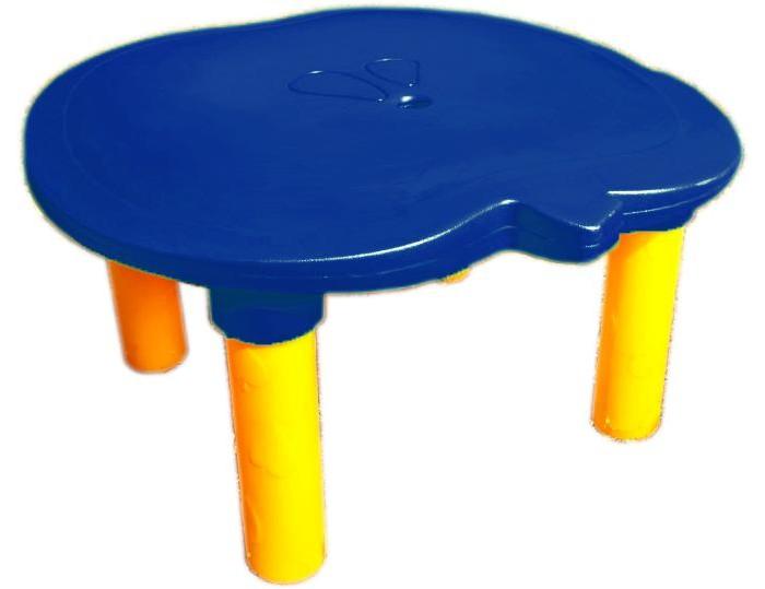 2Kids Столик с ножкамиСтолик с ножками2Kids Столик с ножками легко собирается и разбирается и компактен в хранении и перевозке, а также имеет 2 высоты за счет поворота ножек. В центре стола - отверстие для установки зонтика при эксплуатации мебели на уличных площадках. Столешница стола оснащена выемками по бортику для защиты от падения игрушек и пишущих предметов. Столик имеет устойчивую конструкцию, масса столика 7.2 кг.  Мебель 2Kids идеально подходит для игровых зон в детских садах и игровых уголков частных домов. Столик и стульчик изготавливаются из материала, легко переносящего перепады температур и устойчивого к длительному воздействию солнечных лучей. Поэтому Вы можете поставить необычную яркую детскую мебель на своем дачном участке или открытой детской площадке.  Для очистки поверхностей мебели 2Kids можно использовать обычный мыльный раствор или воду. Материал - полиэтилен LLDPE, который экологически безопасен для детей и окружающей среды, не гниет, не вступает во взаимодействие с окружающей средой.<br>