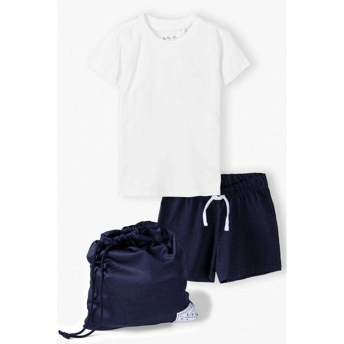 5.10.15 Комплект для мальчика (футболка, шорты и мешок) 1P4102