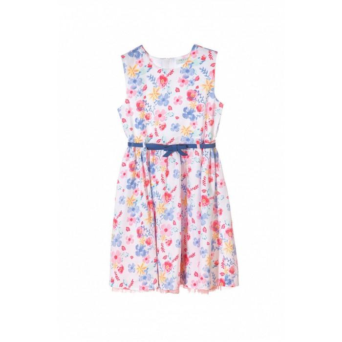 Картинка для 5.10.15 Платье с поясом для девочки 3K3605
