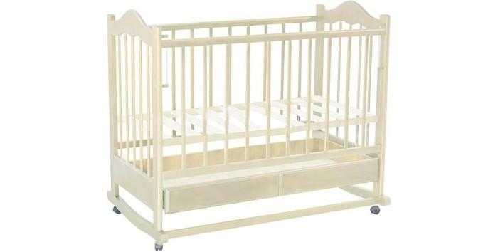Детская кроватка Ведрусс Кира №1 качалкаКира №1 качалкаДетская кроватка Ведрусс Кира №1 качалка считается одной из самых удобных – она обеспечивает плавное качание ребенка и облегчает маме уход за малышом, особенно в первые месяцы его жизни.    Выдвижной ящик детской кроватки очень функциональное и практичное дополнение к кроватке – он может использоваться для хранения постельного белья и всего, что должно быть «под рукой» у мамы. Ящик оснащен металлическими направляющими с лёгким скольжением.  Характеристика: колесо-качалка  ящик  трансформируется в диванчик  накладка ПВХ  автостенка  3 уровня ложе (размер 120х60 см)   Размеры: длина 125 мм, ширина 78 мм.<br>