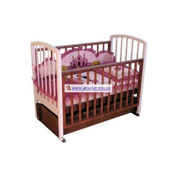 Детские кроватки Можга (Красная Звезда) Аделина С-835 (маятник продольный) детские кроватки можга красная звезда леонардо с 770 продольный маятник