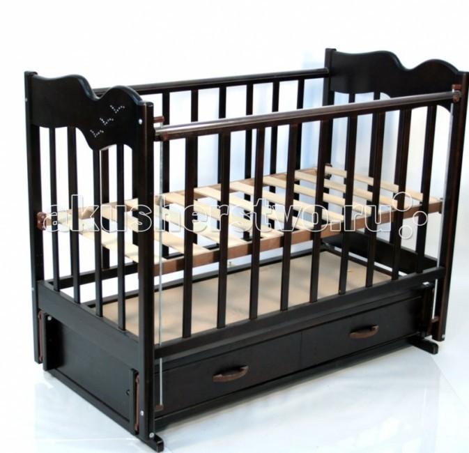 Детские кроватки Ведрусс Чайка 4 продольный маятник обычная кроватка ведрусс радуга 4 вишня