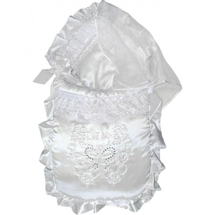 Комплект на выписку Little People Рафаэлло (7 предметов)Рафаэлло (7 предметов)Атлас, вышивка лентой и пайетками.   Набор из 7 предметов: конверт  чепчик трикотажный (теплый и холодный) распашонка трикотажная (теплая и холодная) пеленка трикотажная (теплая и холодная).<br>