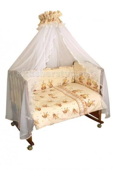 Комплект в кроватку Сонный гномик Пчелки (7 предметов)Пчелки (7 предметов)Полный комплект постельного белья из бязи, с купонным рисунком. 100% хлопок.   Бортик (раздельный на 4 стороны, высота 50см, синтепон, 120х60см) - чехлы несъемные  Балдахин (сетка, бязь, 175х450см)  Наволочка 40х60см  Пододеяльник 110х140см  Простыня 140х100см  Одеяло (110х140см, шерсть 80%, ПЭ 20%)  Подушка (40х60см, шерсть 80%, ПЭ 20%)  Ткань: бязь 100 % хлопок  Выпускается в трех цветах: Голубой, Розовый,Бежевый  Артикул: 732.  Дополнительно Вы так же можете заказать постельный комплект арт.332 «ПЧЕЛКИ» 3 предмета, Бортик в кроватку «Пчелки» и Держатель для балдахина универсальный.  Упаковка: Чемодан из прозрачного ПВХ (с кедером и ручками из капроновой ленты) с полноцветной этикеткой ТМ Сонный Гномик. Размер 50х60х20 см. Вес 4 кг. Изделие снабжено штрихкодом в системе EAN13. Изделие сертифицированно для продажи на территории РФ.<br>