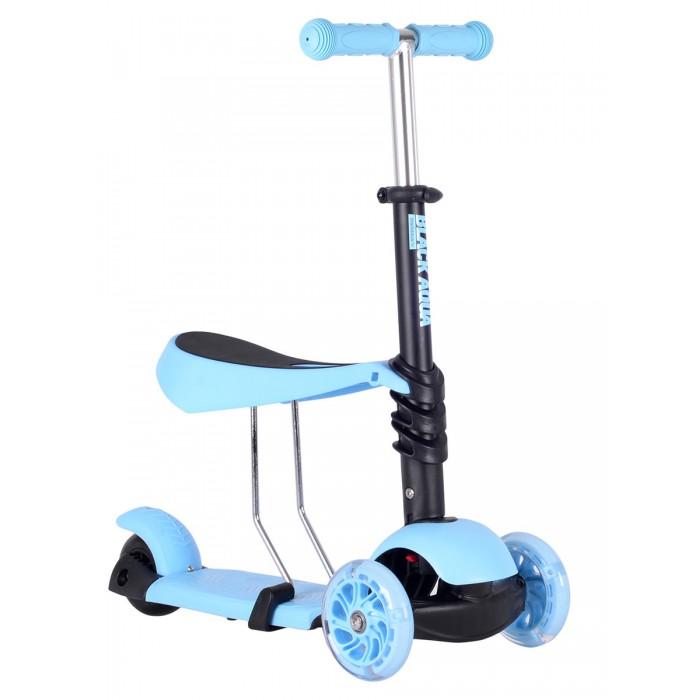 Купить Трехколесные самокаты, Трехколесный самокат А.В.Т.Спорт беговел Black Aqua со светящимися колёсами