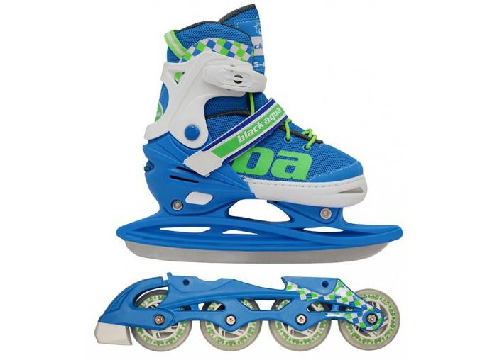 Купить Ледовые коньки и лыжи, А.В.Т.Спорт Коньки-ролики BlackAqua 2 в 1 AS-409