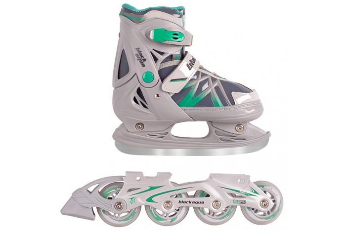 Купить Ледовые коньки и лыжи, А.В.Т.Спорт Коньки-ролики BlackAqua 2 в 1 AS-410