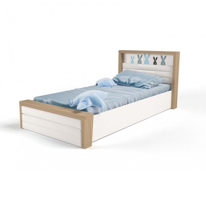 Подростковая кровать ABC-King Mix Bunny №6 c подъёмным механизмом и мягким изножьем 160x90 см фото