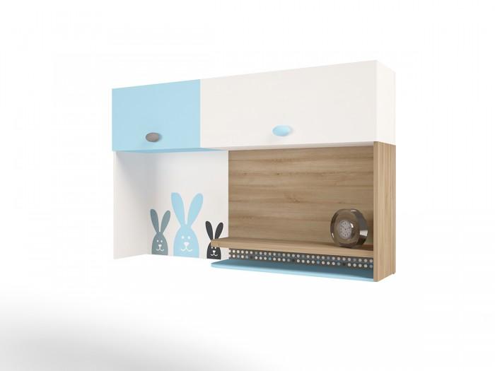 Аксессуары для мебели ABC-King Полка навесная надстройка на стол Mix Bunny (левая)