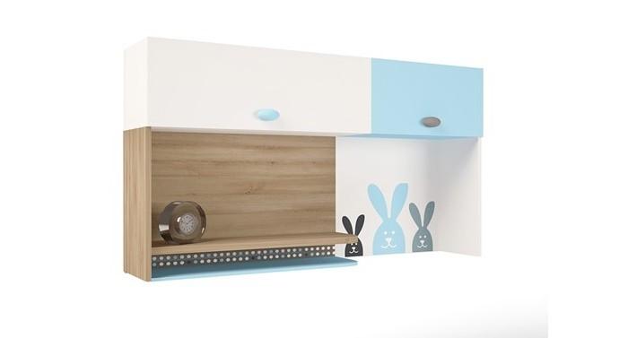 Аксессуары для мебели ABC-King Полка навесная надстройка на стол Mix Bunny (правая)