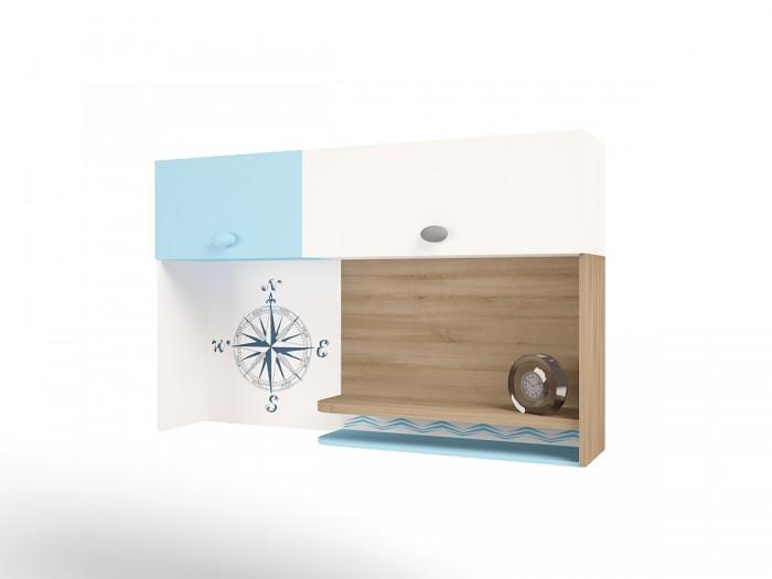 Аксессуары для мебели ABC-King Полка навесная надстройка на стол Mix Ocean (левая)