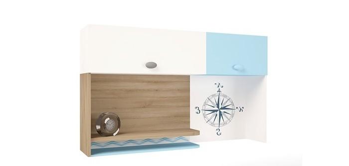 Аксессуары для мебели ABC-King Полка навесная надстройка на стол Mix Ocean (правая)