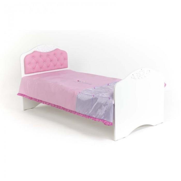Подростковая кровать ABC-King Princess №2 со стразами Сваровски без ящика 160x90 см фото