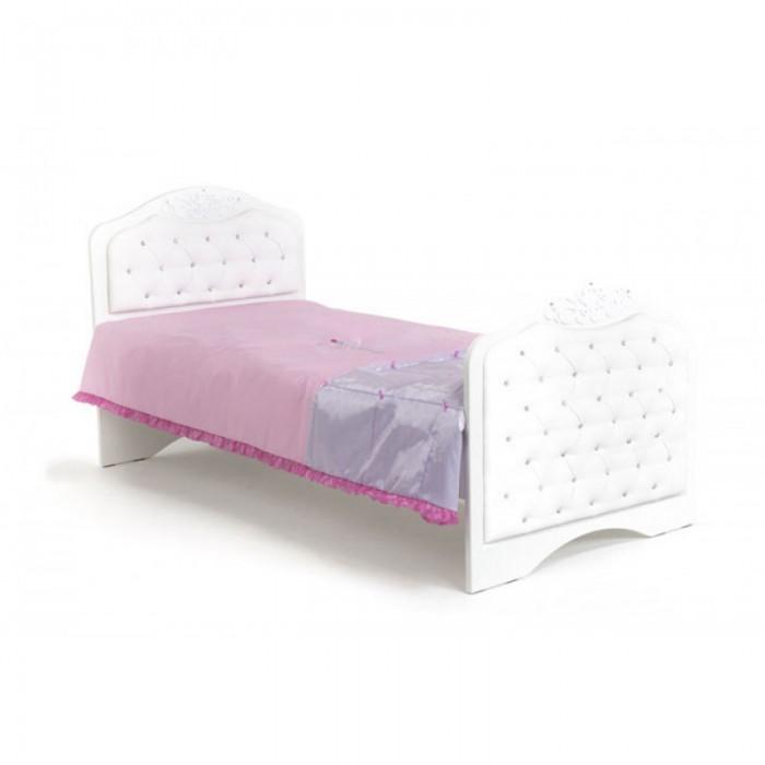 Подростковая кровать ABC-King Princess №3 со стразами Сваровски без ящика 160x90 см фото