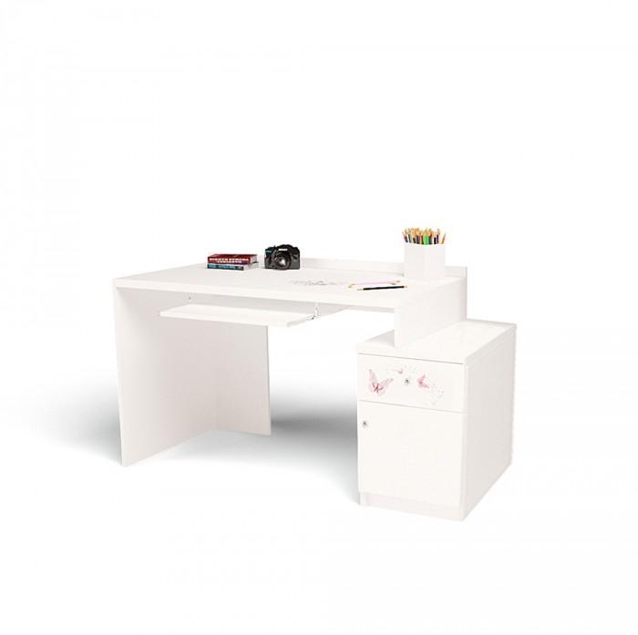 Купить Детские столы и стулья, ABC-King Стол модульный Г и Тумба 400 Swarovski Фея (левый)