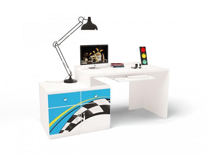 Купить Детские столы и стулья, ABC-King Стол модульный Г и Тумба 400+400 La-Man (правый)