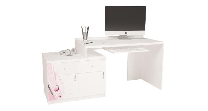 Купить Детские столы и стулья, ABC-King Стол модульный Г и Тумба 400+400 Princess (левый)