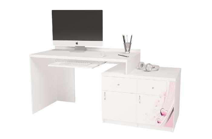 Купить Детские столы и стулья, ABC-King Стол модульный Г и Тумба 400+400 Princess (правый)