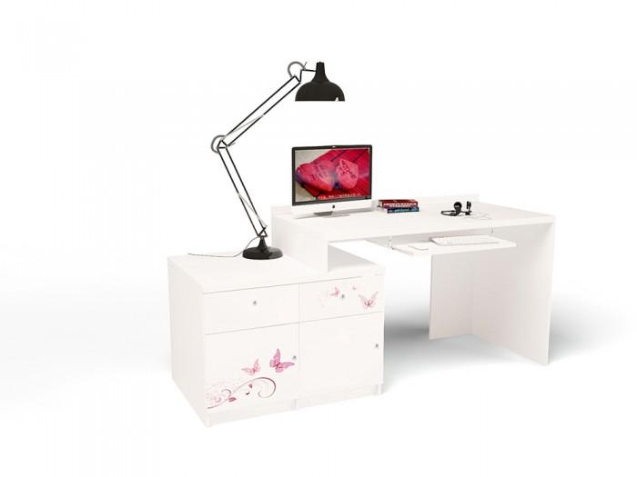 Купить Детские столы и стулья, ABC-King Стол модульный Г и Тумба 400+400 Swarovski Фея (правый)
