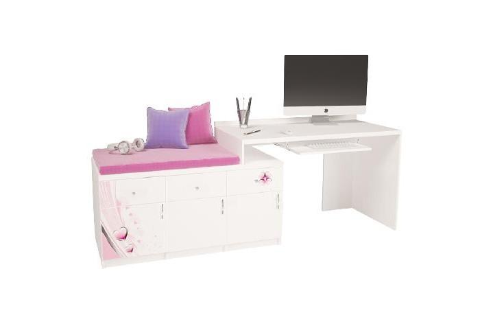 Купить Детские столы и стулья, ABC-King Стол модульный Г и Тумба 400+800 Princess (левый)