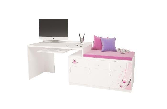 Купить Детские столы и стулья, ABC-King Стол модульный Г и Тумба 400+800 Princess (правый)