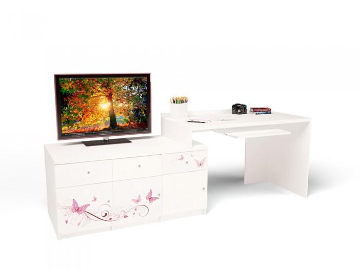 Купить Детские столы и стулья, ABC-King Стол модульный Г и Тумба 400+800 Swarovski Фея (правый)