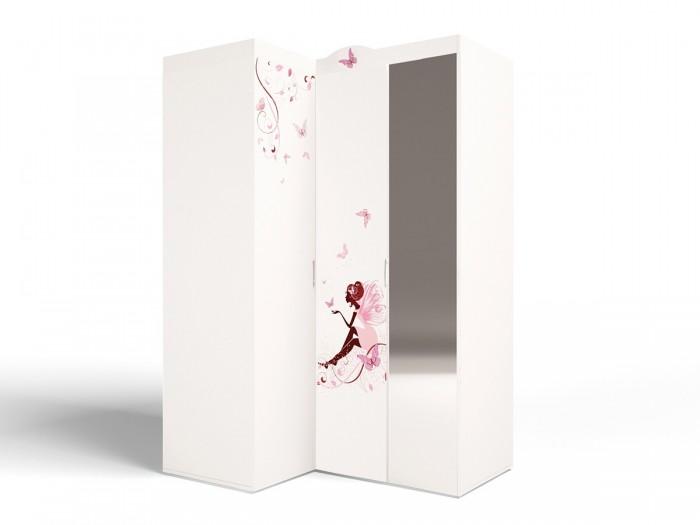 Шкафы ABC-King угловой гармошка Фея с зеркалом (левый) шкафы abc king угловой гармошка фея с зеркалом левый