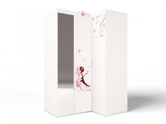 Шкафы ABC-King угловой гармошка Swarovski Фея с зеркалом (правый) шкафы abc king угловой гармошка фея с зеркалом левый