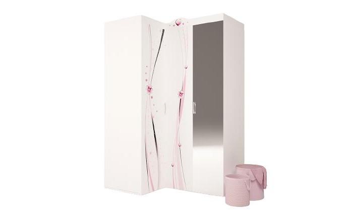 Шкафы ABC-King угловой гармошка Princess с зеркалом (левый) шкафы abc king угловой гармошка фея с зеркалом левый