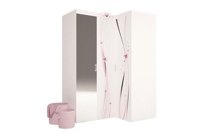 Шкафы ABC-King угловой гармошка Princess с зеркалом (правый) шкафы abc king угловой гармошка фея с зеркалом левый