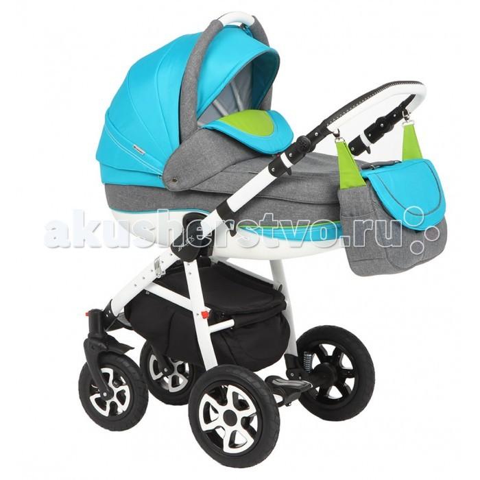 Коляска Adamex Alex 2 в 1Alex 2 в 1Коляска Adamex Alex 2 в 1 для детей от рождения до 3 лет.  Легкая алюминиевая конструкция на надувных колесах с пружинными амортизаторами обеспечивает полный комфорт и простоту использования. Стильная детская коляска Adamex Alex (Адамекс Алекс) 2 в 1 легко преодолевает бордюры, пороги и демонстрирует плавный ход по бездорожью.   Мама сможет управлять ею одной рукой даже на переполненных городских улицах благодаря эргономичной ручке с регулировкой высоты и передним плавающим колесам. Все модули в детской коляске Adamex Alex (Адамекс Алекс) 2 в 1 фиксируются одним движением руки в двух направлениях.   Люлька и прогулочное сиденье получили регулируемые спинки и объемные капюшоны с системой «климат-контроль».   Конструкция легко складывается по принципу «книжки» до компактных габаритов.  Особенности: механизм складывания — книжка;  пружинная амортизация установлена и на передних, и на задних колёсах; регулируемое изголовье люльки; тросовый ножной тормоз; передние колёса поворотные, с возможностью их блокировки; и передние, и задние колёса надувные, съемные; большая и вместительная корзина для вещей и покупок, съёмный бампер; возможность регулирования спинки коляски (4 положения); блоки (люлька и прогулочный) можно устанавливать в двух направлениях: за и против движения; регулируемая подножка; возможность регулирования высоты ручки для родителей; наличие чехла на ножки и отдельного чехла на люльку; пятиточечные ремни безопасности; есть сумка  для мамы.<br>
