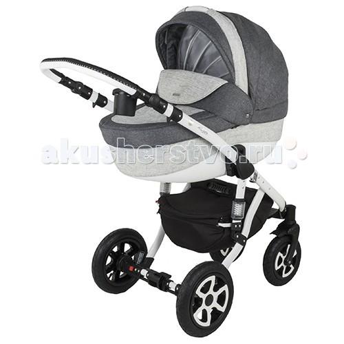 Коляска Adamex Barletta 2 в 1Barletta 2 в 1Перед вами одна из самых популярных в нашем интернет-магазине модульных польских колясок: модель с просторной пластиковой люлькой, модными, немаркими расцветками и превосходной комплектацией. Вездеход-внедорожник — так Адамекс Барлетта 2 в 1 называют родители, откатавшие в ней одного-двух детей.   Особенности коляски Adamex Barletta 2 в 1 За маневренность, амортизацию и проходимость отвечает шасси: 4 колеса с надувными шинами; демпферы колес и шасси с регулировкой жесткости; колеса 24 см и 29 см дают возможность «шагать» по ступенькам и плавно преодолевать бордюры; с поворотными колесами легко развернуться на 360 градусов на крохотном пятачке.   Люлька коляски Adamex Barletta 2 в 1 безупречна. Придраться просто не к чему: при размерах 80х36х23 см в ней свободно поместится крупный малыш в конверте из овчины; цельнопластиковый короб не продувается; противоветровой экран с отворотом защищает от ветра; дно с регулируемыми отверстиями, чтобы летом младенцу не было жарко; подголовник приподнимается снаружи — не придется беспокоить ребенка, чтобы изменить наклон спинки.   У прогулочного блока просторное сидение (90 х 34 см), на котором не тесно малышу в зимнем комбинезоне, и спинка, раскладывающаяся до 170 градусов. Капюшон опускается почти до бампера, в том числе и при разложенной спинке. Подножка удлиняет спальное место на 10% — удобно будет даже рослому ребенку. Съемное все, кроме капюшона. Это удобно — можно снять и постирать.   Благодаря ручке с регулируемой высотой катить детскую коляску будет удобно и низенькой бабушке, и высокому папе. Корзина для покупок небольшая, рассчитана на 2-2,5 кг. Все, что в нее не поместится, можно уложить в сумку. Она входит в комплект.   Стоит отметить, что коляска Adamex Barletta 2 в 1 тяжелая (14,8-15,8 кг) и габаритная, даже в сложенном виде. Учитывайте это, если в доме нет лифта или мало места для хранения.<br>