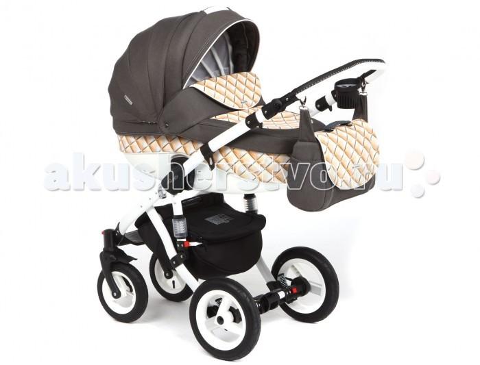 Коляска Adamex Barletta Ecco 50% 2 в 1Barletta Ecco 50% 2 в 1Barletta Ecco 50% - коляска 2 в 1 в экокоже, имеющая просторную люльку и супер удобный для малыша прогулочный блок.  Современный дизайн, высококачественные материалы, прочная рама, отличная комплектация и функциональность - все это сочетает в себе коляска Adamex Barletta!  Шасси коляски:  Сочетание классического и современного дизайна Гондола с возможностью модульной установки и прогулочный блок Можно устанавливать лицом или спиной по направлению к движению Эта модель гарантирует полный комфорт, удобство и безопасность, как Вам, так и Вашему ребёнку.  Оснащение Adamex Barletta 2 в 1 :   Функцией регулирования спинки люльки Комфортные надувные колеса с подшипниками  Хромированные части конструкции, выполненные из металла или алюминия Эксклюзивная ткань обшивки коляски  Ручка, регулируемая по высоте  Комплектация :   дождевик антимоскитная сетка  шторки в люльку теплые муфта-варежки подстаканник   Размеры и вес :   Размер в разложенном виде: ДхШхВ - 128 х 60 х 107 см Размер в сложенном виде: ДхШхВ - 97 х 60 х 33 см Сидение: ДхШ - 90 х 34 см Люлька: ДхШхГ - 80 х 36 х 23 см Вес:  Люлька - 4,85 кг Прогулочный блок - 5,45 кг Рама - 5 кг Колеса - 3,7 кг<br>