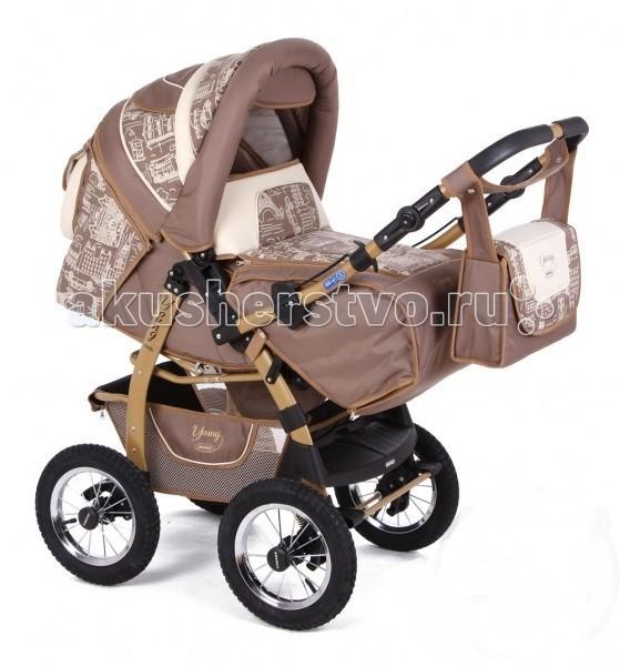 Детские коляски , Коляски-трансформеры Adamex Young арт: 25372 -  Коляски-трансформеры