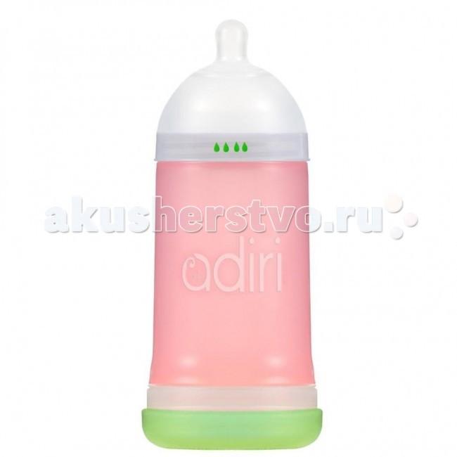 Аксессуары для кормления , Бутылочки Adiri NxGen Medium Flow силикон 6-9 мес. 281 мл арт: 18644 -  Бутылочки