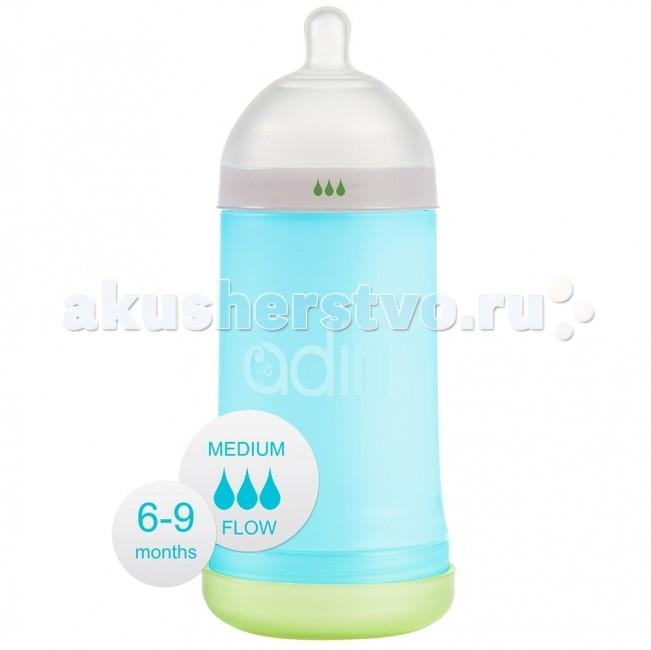 Бутылочки Adiri NxGen Medium Flow силикон 6-9 мес. 281 мл