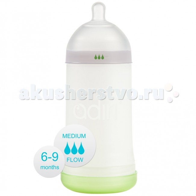 Бутылочки Adiri NxGen Medium Flow силикон 6-9 мес. 281 мл adiri бутылочка для кормления nxgen nurser от 6 до 9 месяцев 281 мл