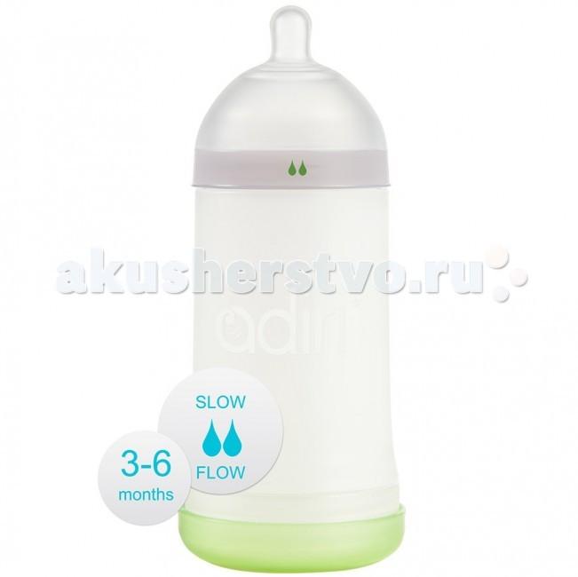 Бутылочки Adiri NxGen Slow Flow силикон  3-6 мес. 281 мл