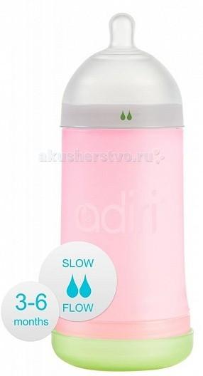 Бутылочка Adiri NxGen Slow Flow силикон 3-6 мес. 281 мл