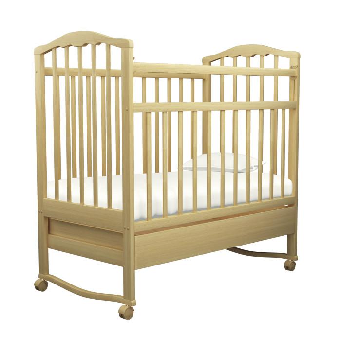 Детская кроватка Агат Золушка-2 качалка с ящикомЗолушка-2 качалка с ящикомДетская кроватка Агат Золушка-2 качалка с ящиком  Детская кроватка Золушка-2 изготовлена из массива березы и покрыта нетоксичными и безвредными для здоровья малышей лаками.  Опускаемая боковина с возможностью последующего снятия, для превращения кроватки в уютный диванчик 2 уровня положения матраса Съемные колеса Вместительный выдвижной ящик для хранения белья и мелочей Колыбельный принцип качания Размеры спального места: 120х60 см Внешние размеры кроватки: 67х102х127 см<br>