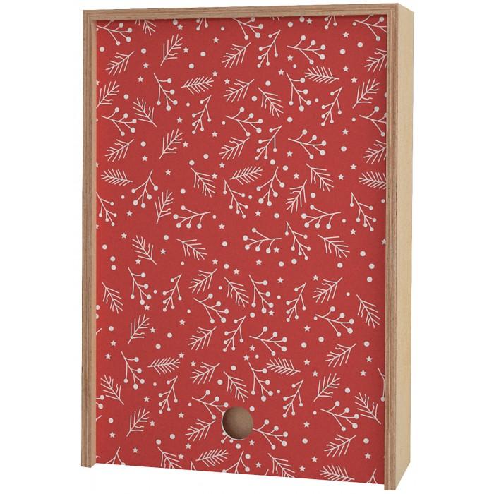 Шкатулки, Акушерство Деревянная подарочная коробка Memory Box New Year 38х25х10 см  - купить со скидкой