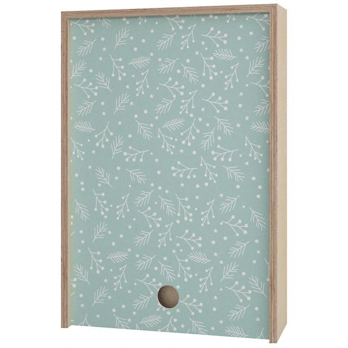 Картинка для Акушерство Деревянная подарочная коробка Memory Box New Year 38х25х10 см