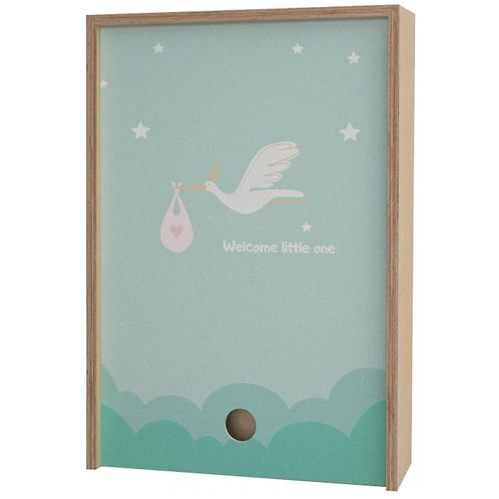 Картинка для Акушерство Деревянная подарочная коробка Memory Box Welcome little one 38х25х10 см
