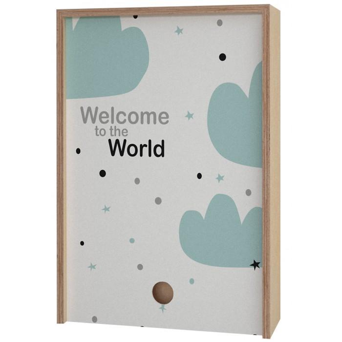 Картинка для Акушерство Деревянная подарочная коробка Memory Box Welcome to the World 38х25х10 см
