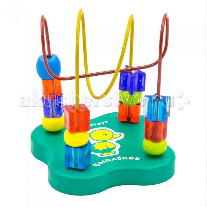 Деревянные игрушки Alatoys Лабиринт Цыпленок деревянные игрушки alatoys пазлы собачки