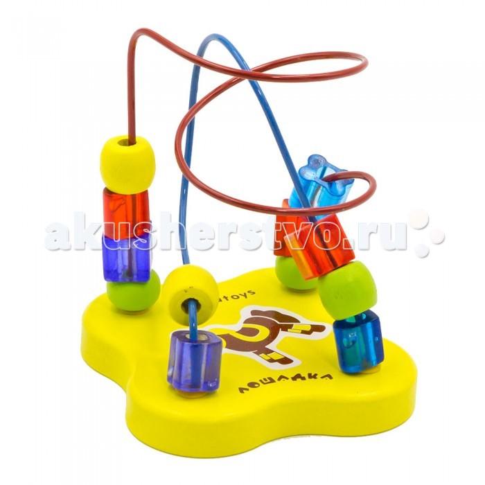 Деревянные игрушки Alatoys Лабиринт Лошадка деревянные игрушки alatoys пазлы собачки